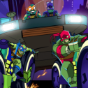 Ninja Turtles in Road Riot